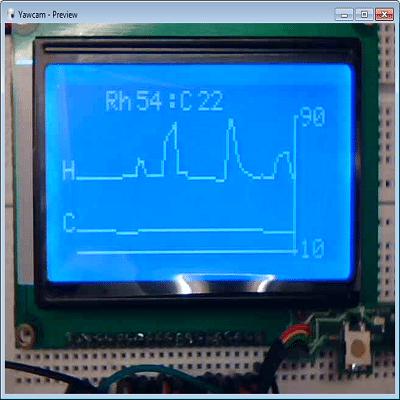 آموزش الکترونیک -اتصال LCD گرافیکی مدل توشیبا toshiba به میکروکنترلر AVR در نرم افزار بسکام برای نمایش عکس و اشکال هندسی و متن - نوشته