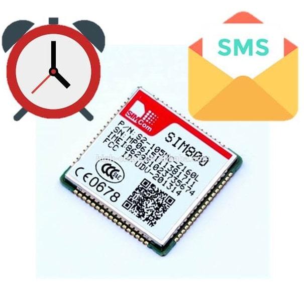 تاخیر - delay - SMS-پیامک - GSM-GPRS-GPS مانند sim808 ، sim800c، sim800L ، sim900a - ماژول -